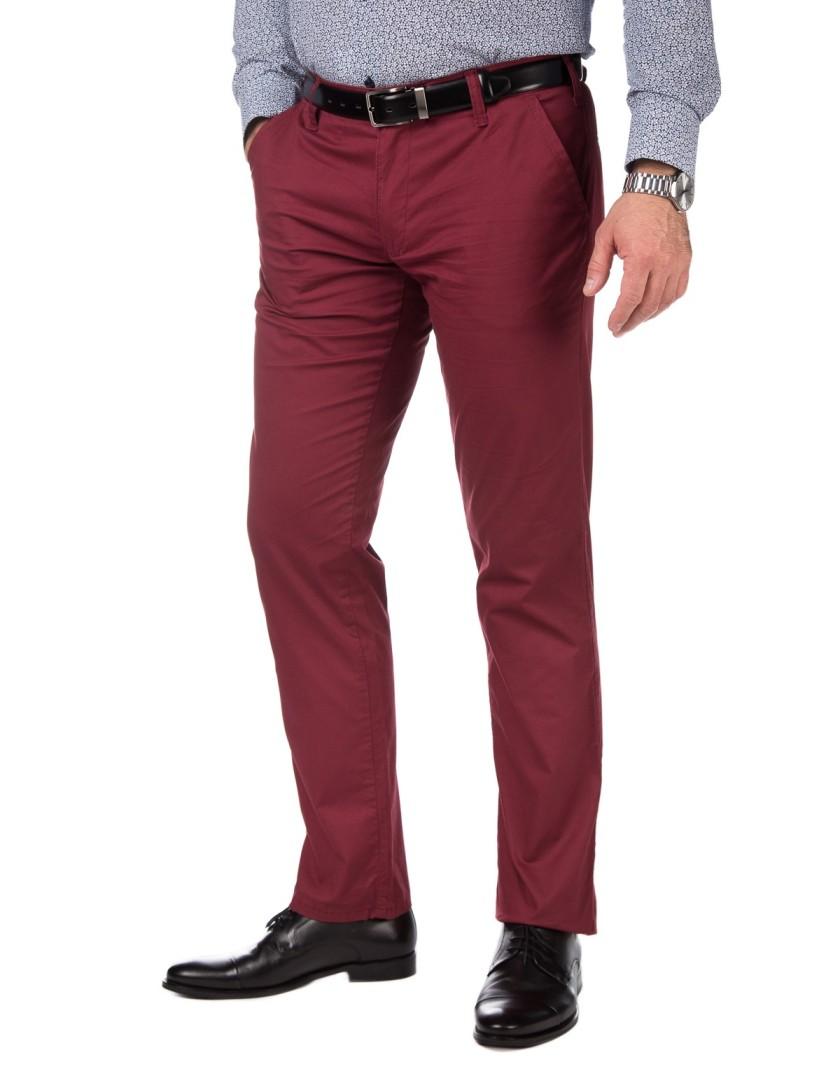 Bordowe spodnie chino SV0080