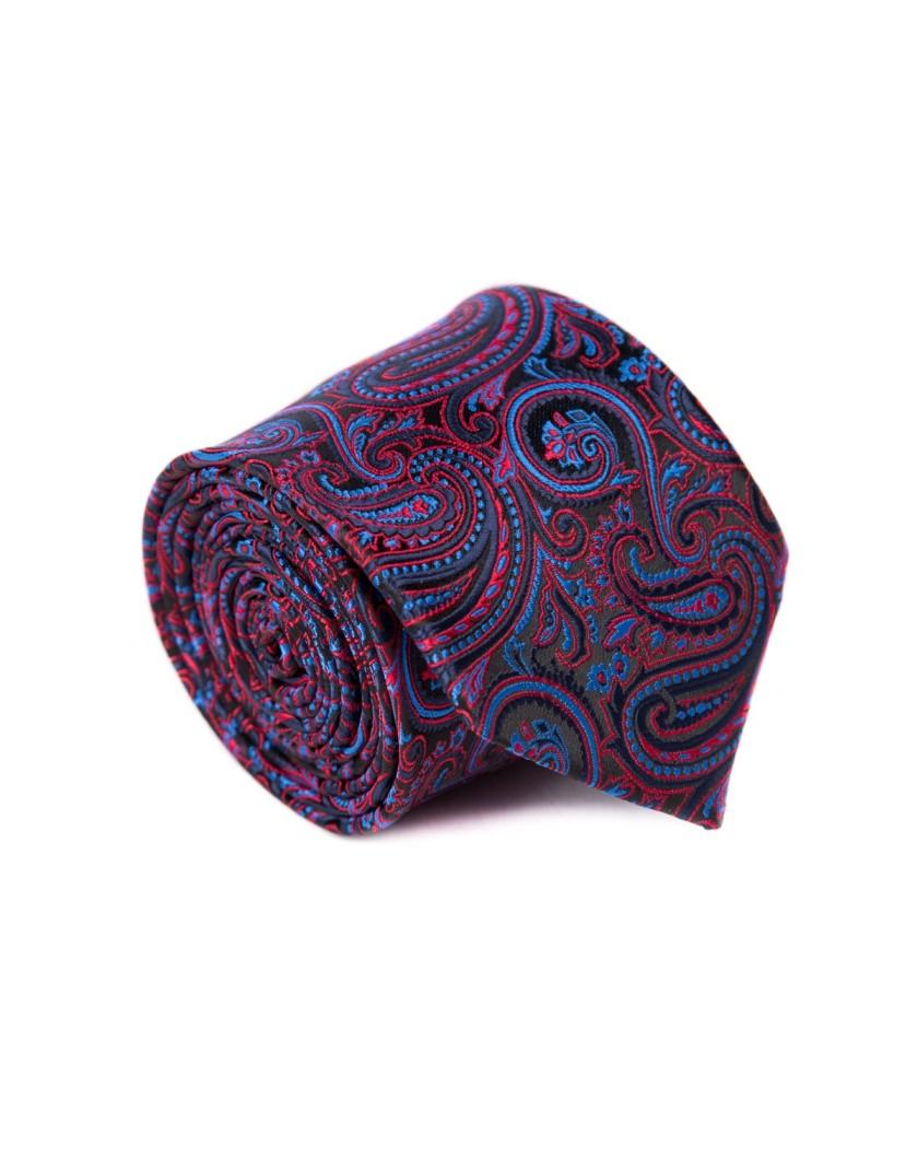 Krawat czarny we wzór paisley