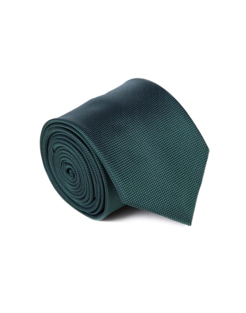 Ciemno zielony krawat
