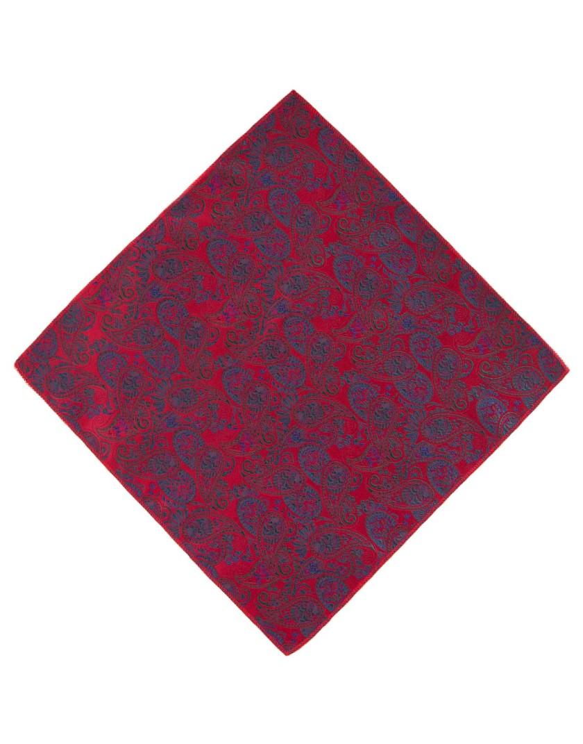 Poszetka w czerwono zielony wzór