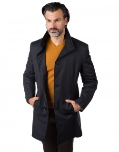 Granatowy płaszcz męski Julian WK0053