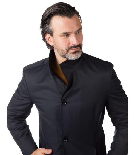 Granatowy płaszcz męski Julian WK053