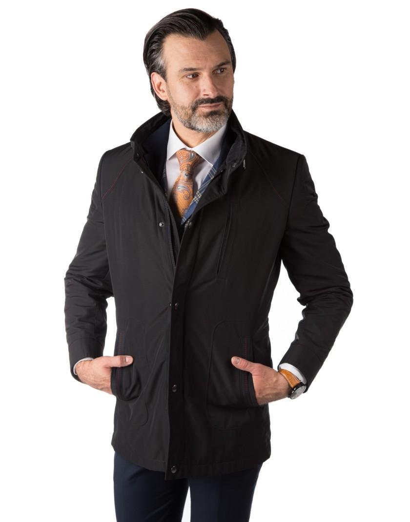 Czarna kurtka męska Wiktor II WL0056