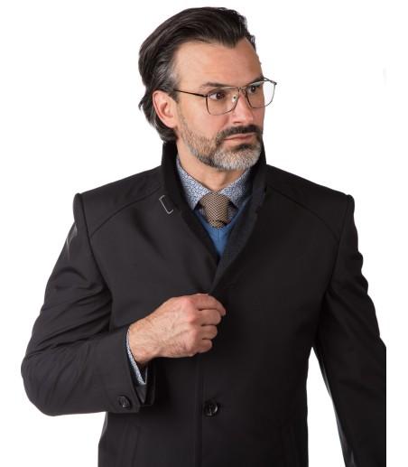 Czarny płaszcz Eugeniusz II WU0052