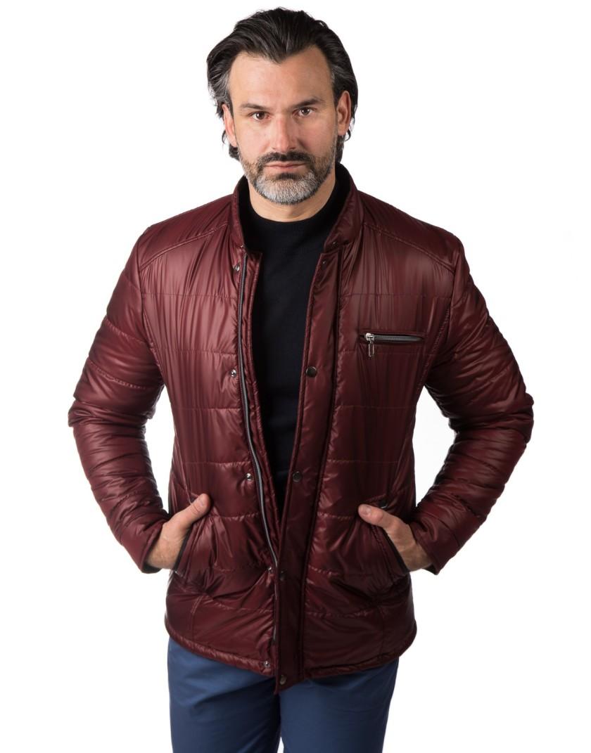 Bordowa krótka kurtka Sebastian WS0087