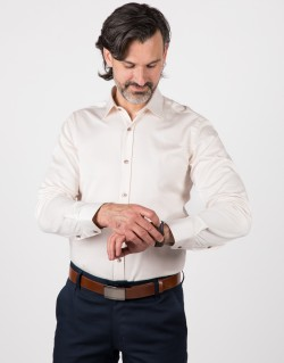 Beżowa koszula męska KT4020