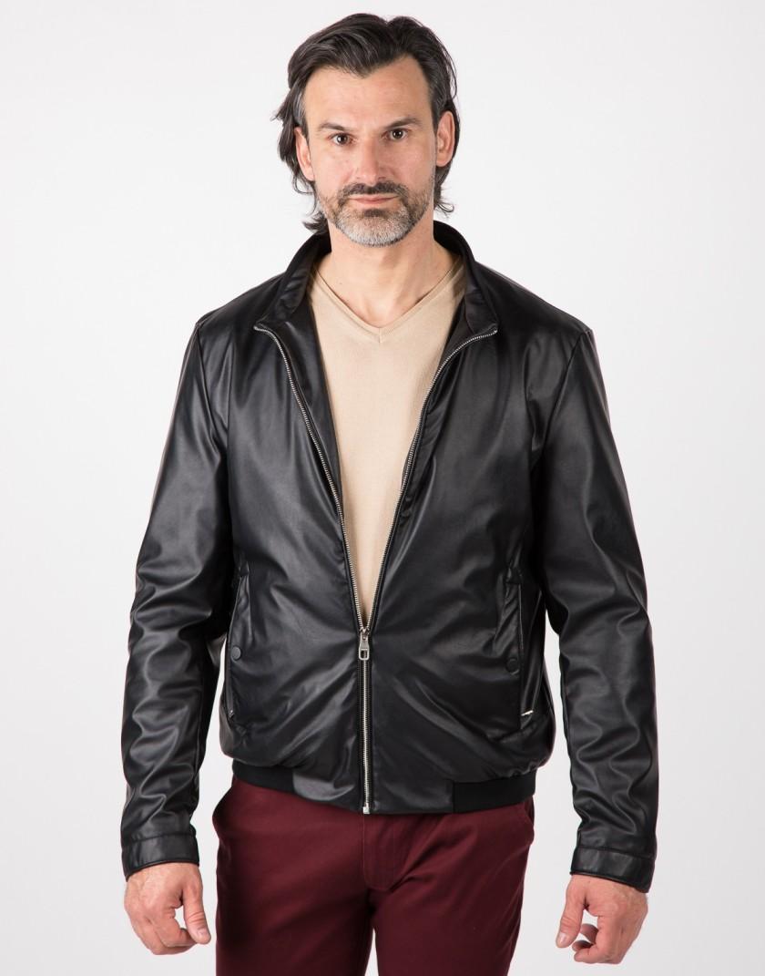 Czarna kurtka z eko skóry Tipsy WA0077