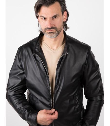 Czarna kurtka ze sztucznej skóry Tipsy WA0077