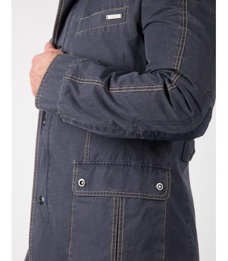 Szara bawełniana kurtka Apollo WL0003