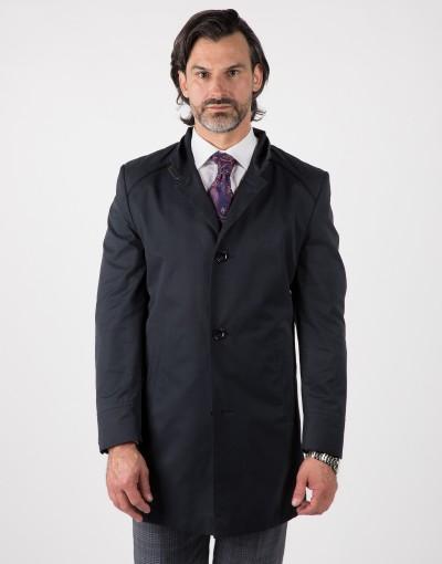 Granatowy płaszcz męski Eugeniusz WL0004