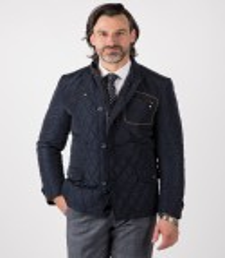 Granatowa kurtka pikowana Wiktor WL0023