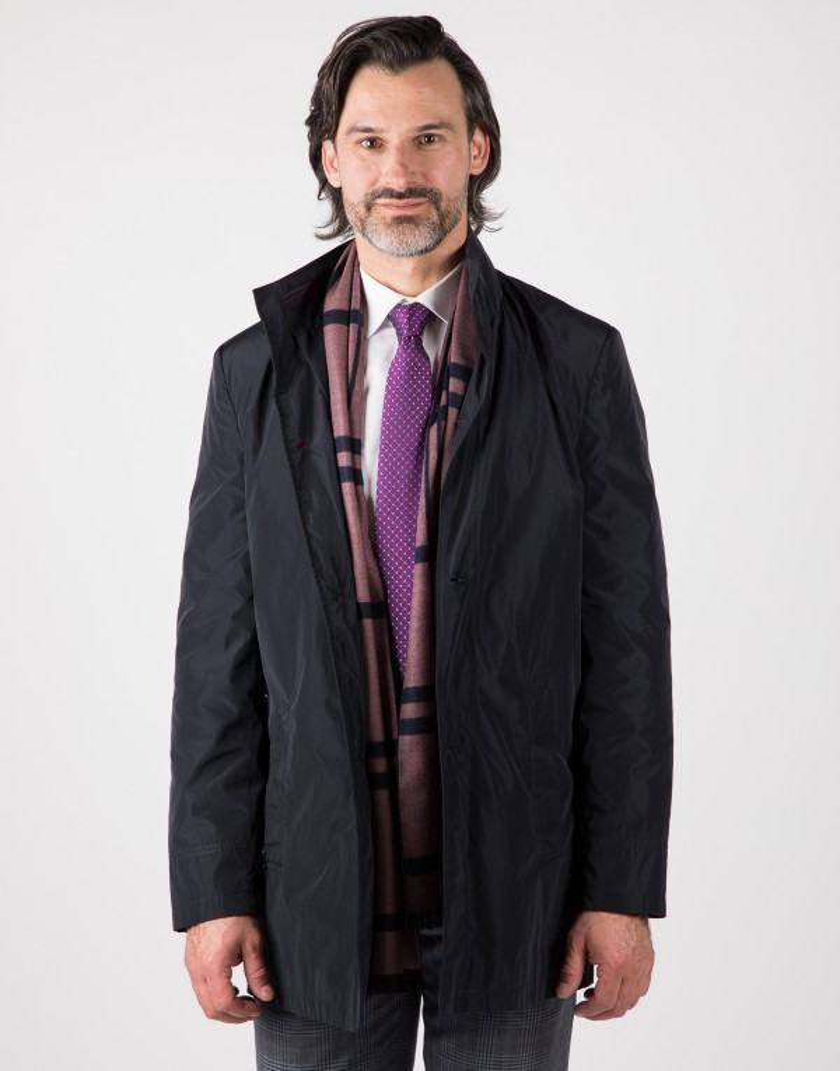 Granatowy płaszcz męski Hubert WL0051