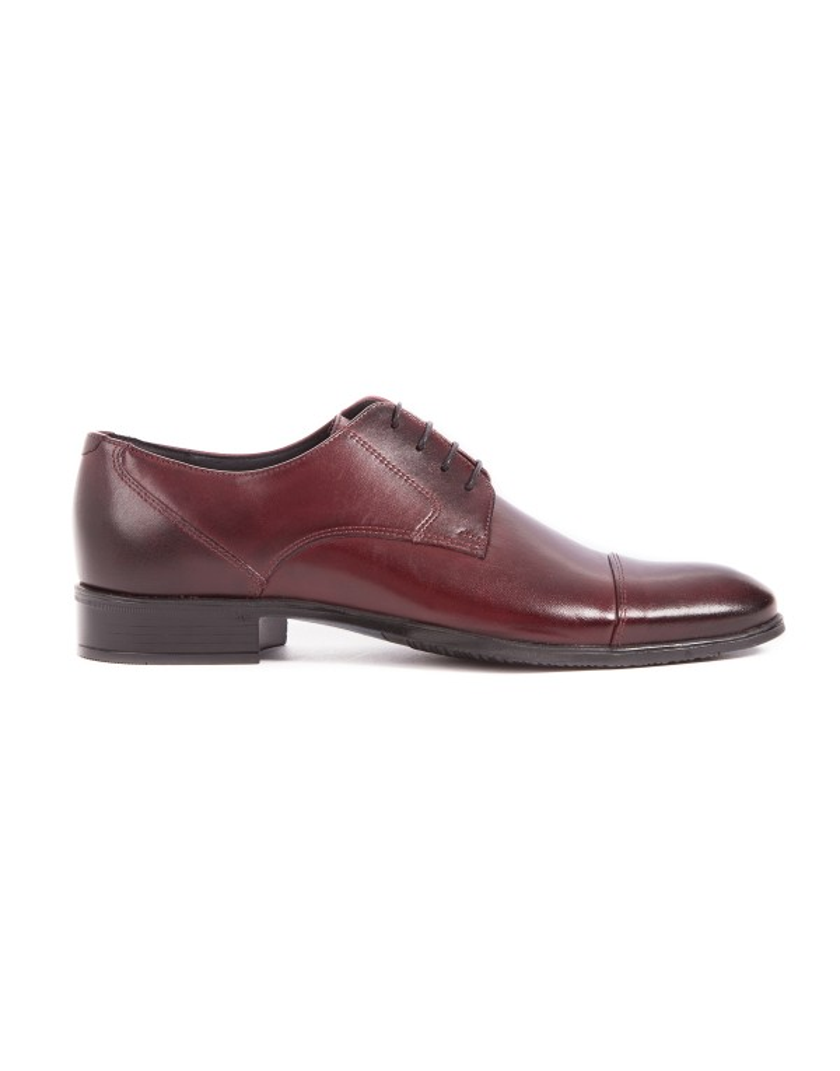 Bordowe buty męskie ze skóry OT2608