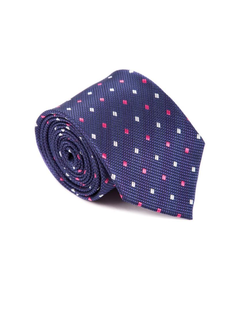 Atramentowy krawat z printem