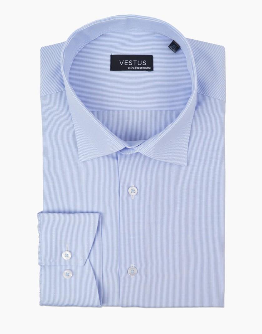 Błękitna koszula w prążek KT4057
