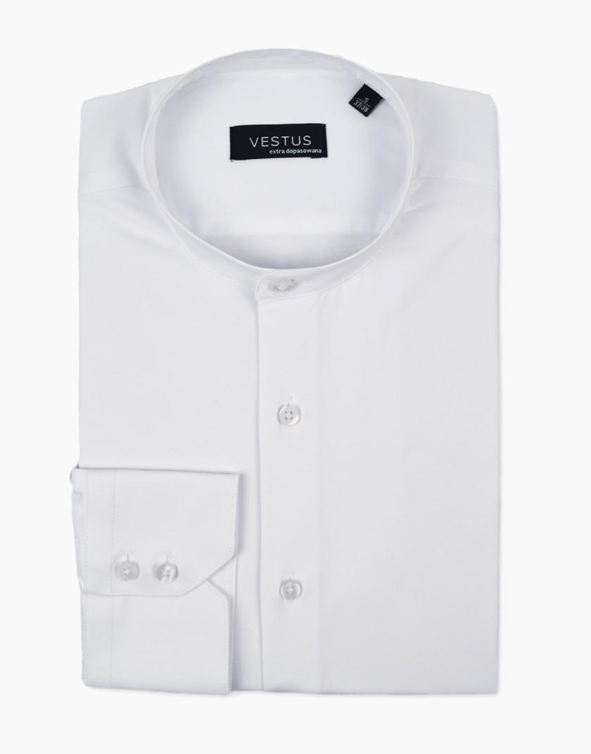 Biała koszula męska ze stójką KT4065
