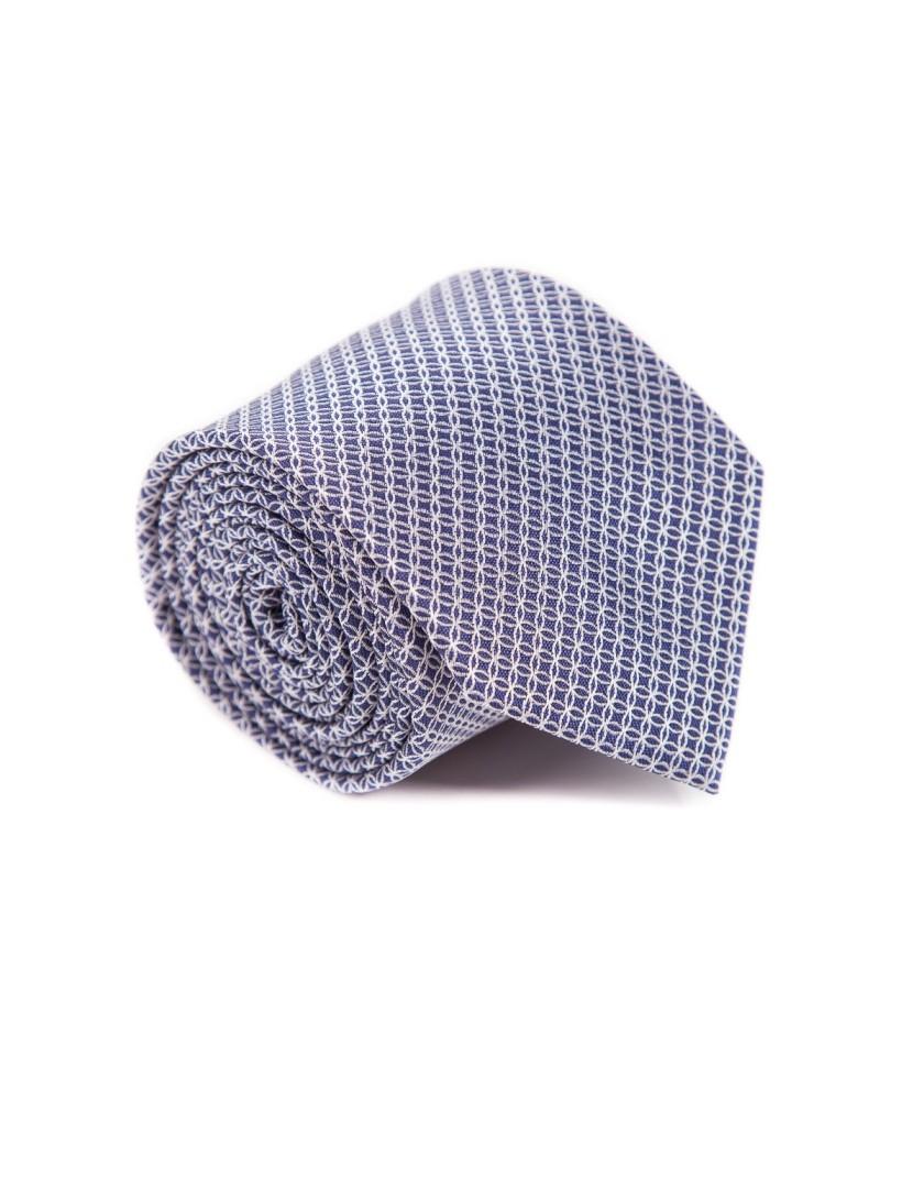 Granatowy krawat w drobny wzór