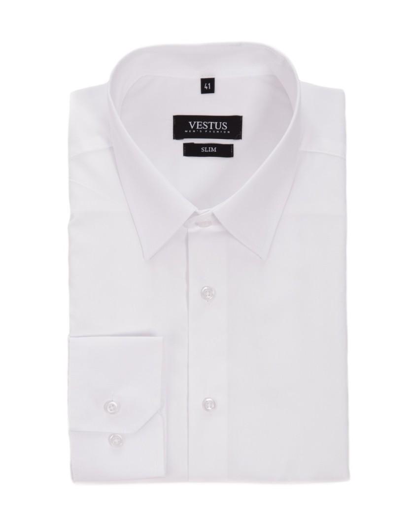 Biała koszula męska KR1026