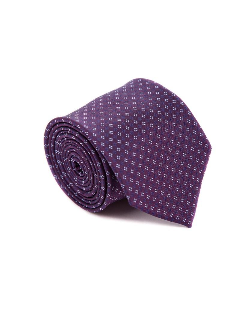 Bordowy krawat z wzorem