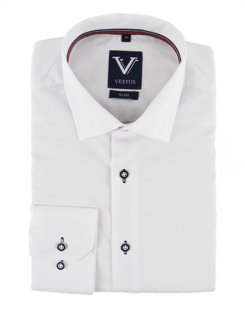 Biała koszula męska KR1036