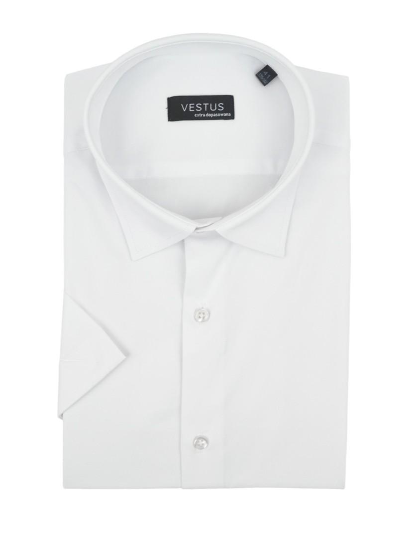 Biała koszula z krótkim rękawem KT4070