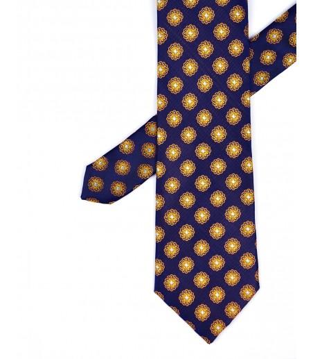 Grafitowy krawat w kropki new