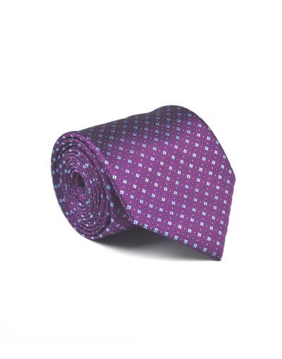 Krawat w odcieniach fioletu w mkrowzór