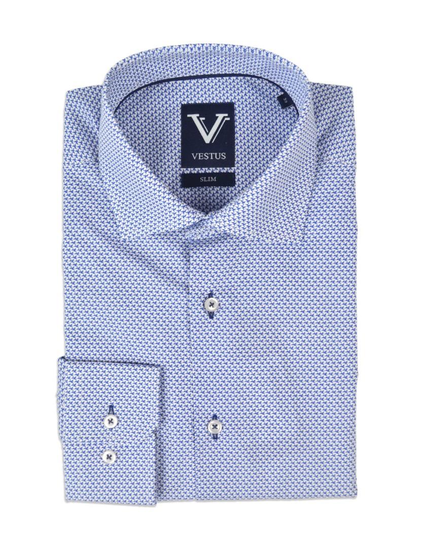 Koszula męska w drobny wzór KE2002