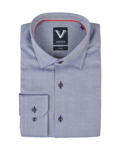 Granatowa koszula męska w rąby KE2007