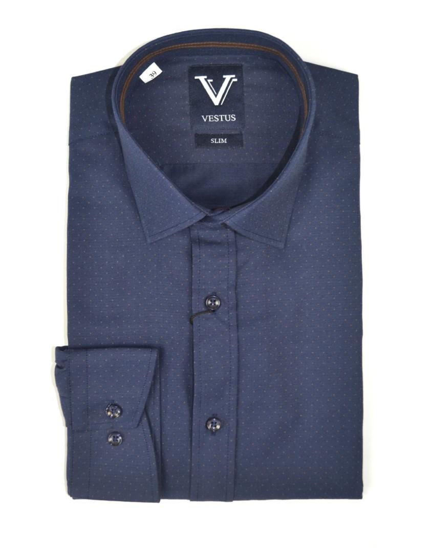 Granatowa koszula męska KT4005