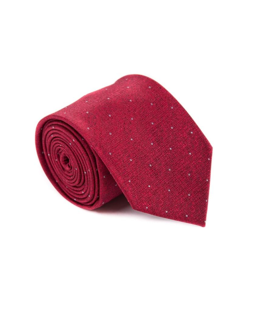 Bordowy krawat