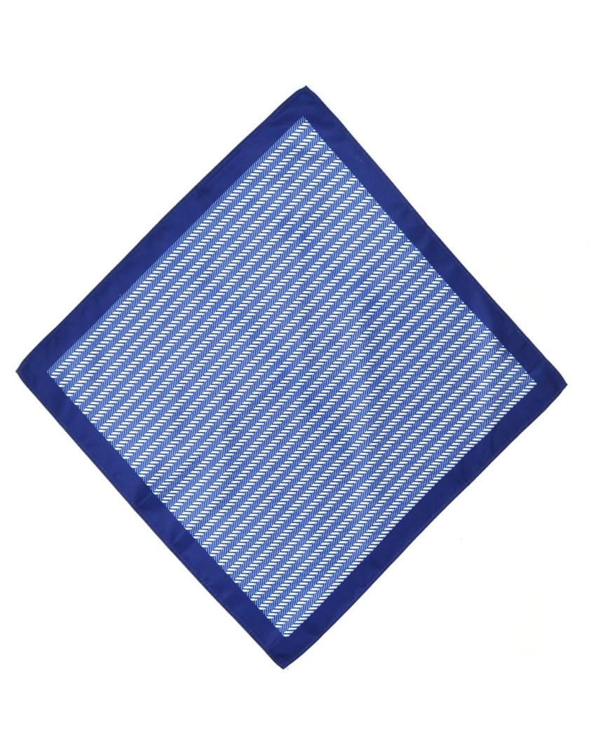 Poszetka niebiesko granatowa