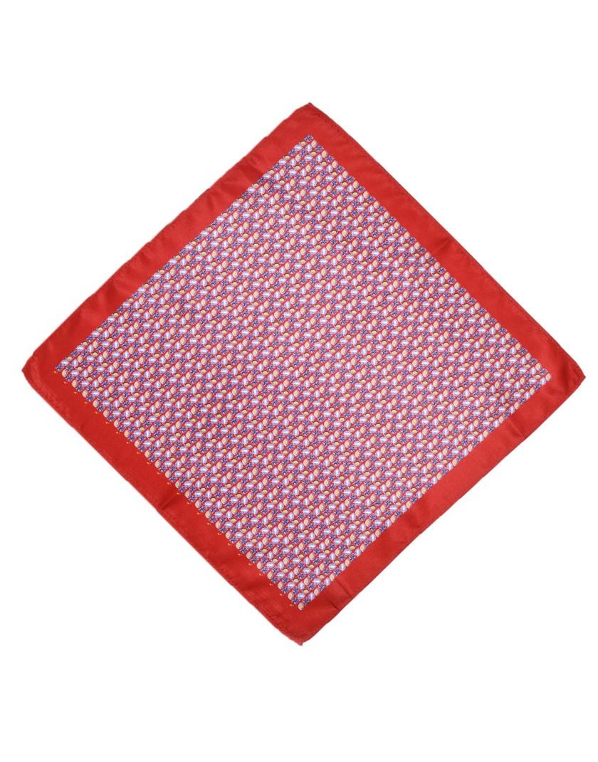 Czerwona poszetka wzór