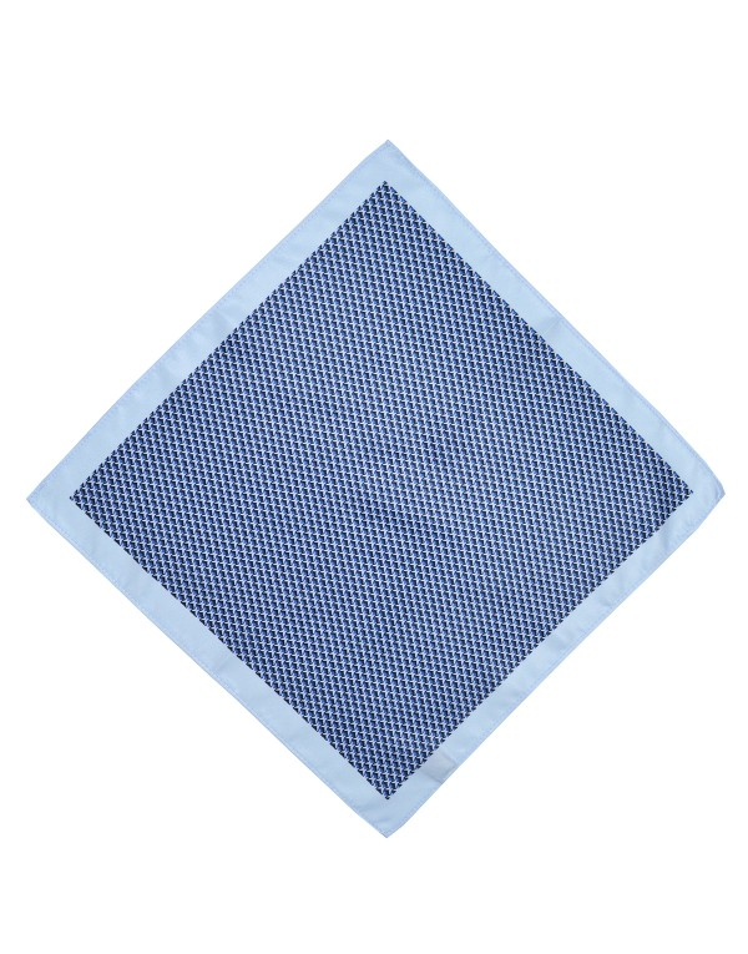 Niebieska poszetka męska