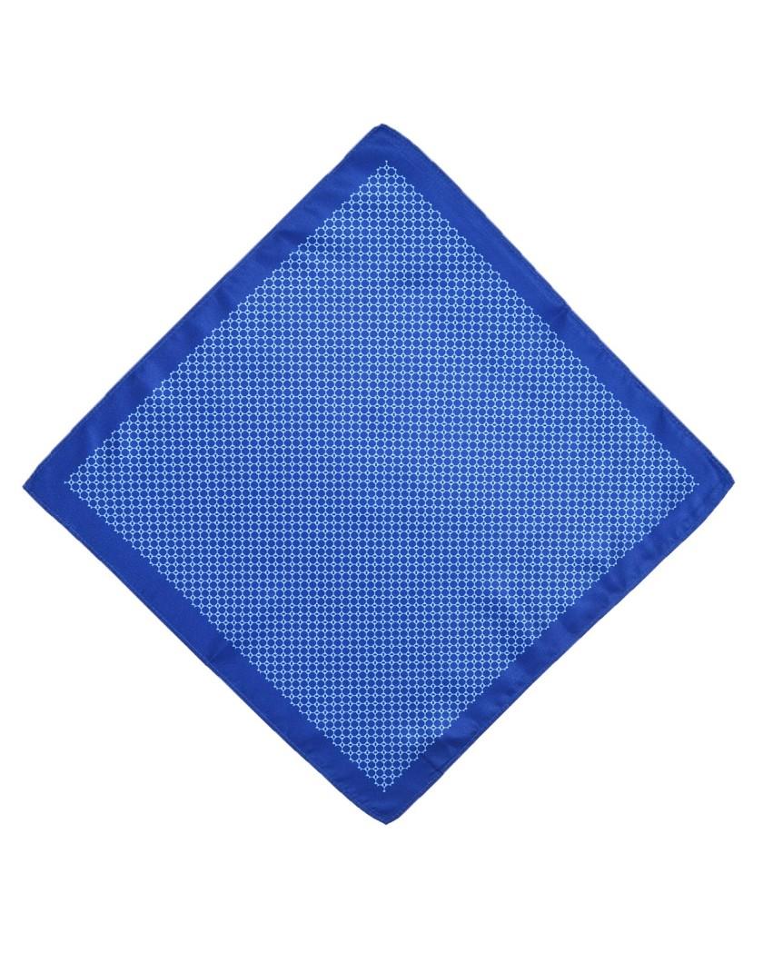 Niebieska poszetka męska z obwódką