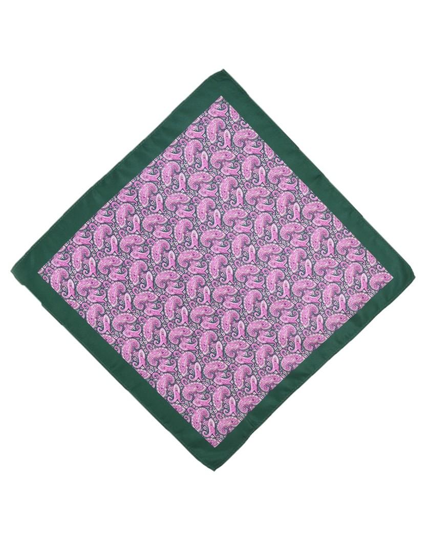 Fioletowa poszetka paisley z obwódką