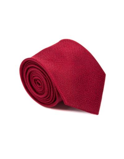 Krawat bordowy w mikrowzór