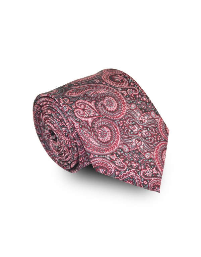 Krawat bordowy we wzór
