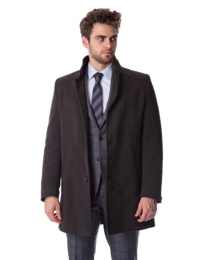 Klasyczny szary płaszcz Adam ZK0050