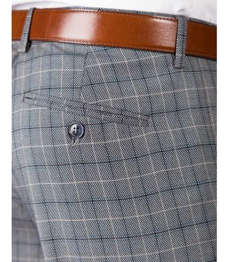 Szary garnitur w kratę SM8019 - spodnie