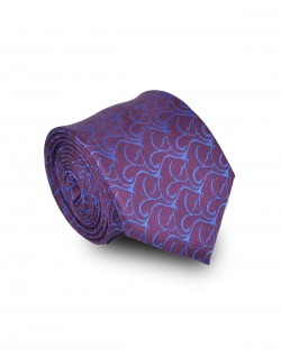 Krawat fioletowy w delikatny wzór