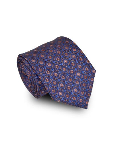 Krawat granatowy we wzór