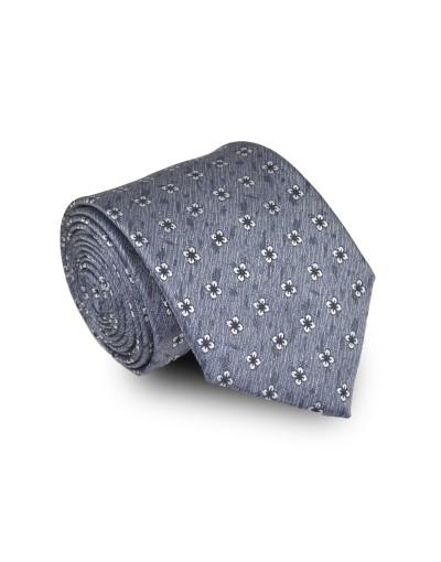 Krawat niebieski w kwiaty