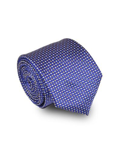 Krawat granatowy w mikrowzór
