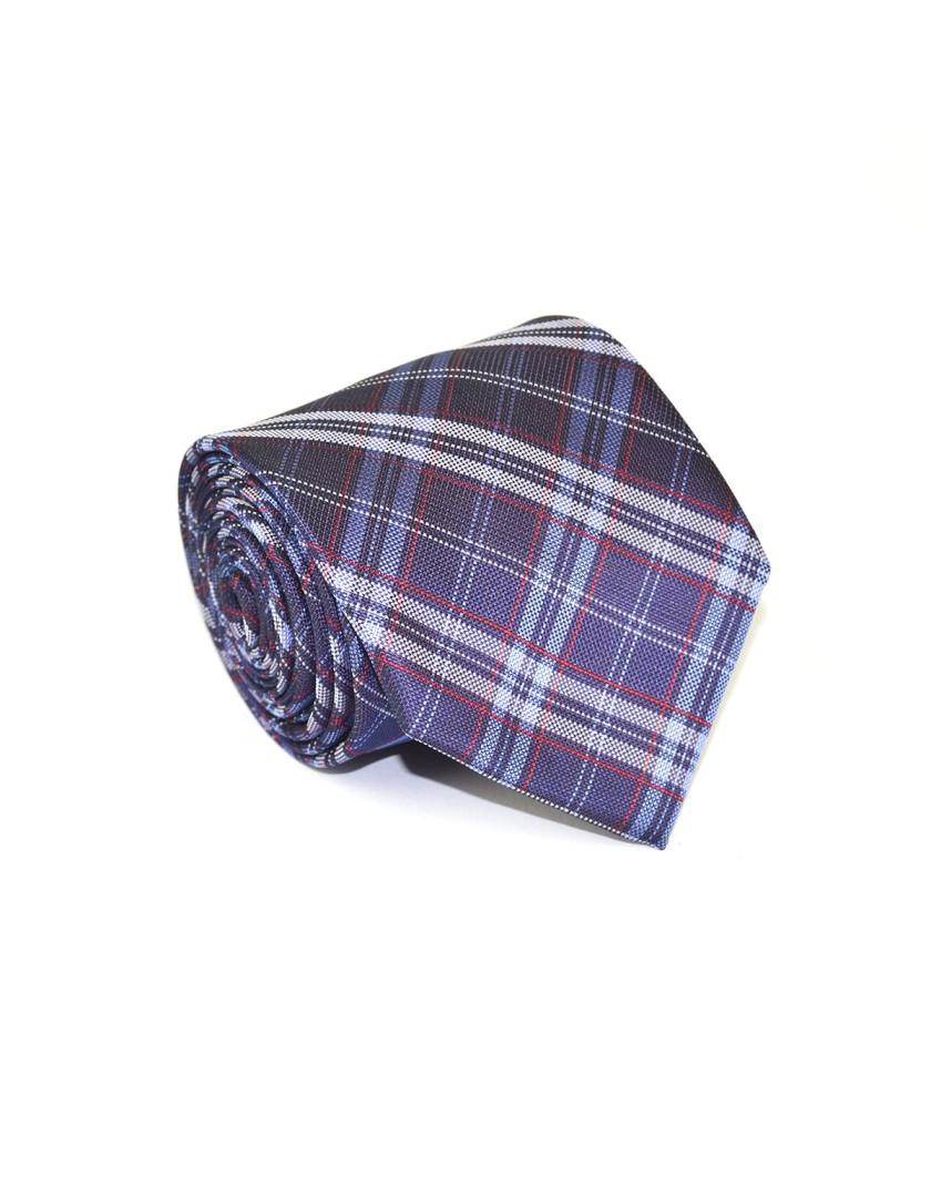 Krawat fioletowy w kratę