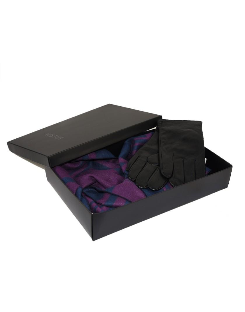 Zestaw prezentowy dla Niego- szal plus rękawice