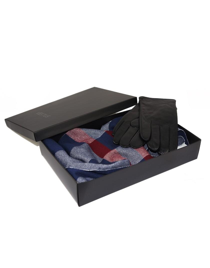Zestaw prezentowy dla Niego- szal i rękawice