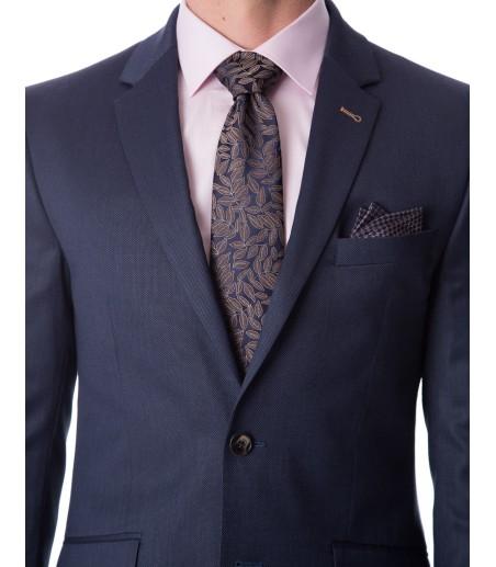 Granatowy garnitur męski GV1050