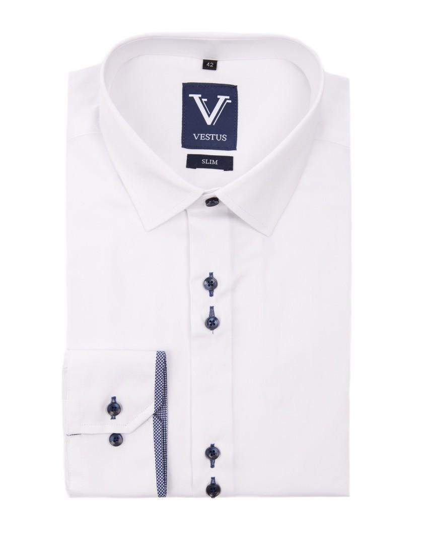 Biała koszula z wstawką KC3002