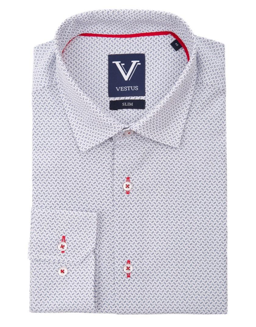 Biała koszula z nadrukiem KE2037